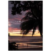 Metal Art Studio Coastal Sunset 22-Inch x 32-Inch Metal Wall Art