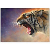 Metal Art Studio Expressionist Fear Me 32-Inch x 22-Inch Metal Wall Art in Orange/Black