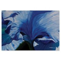 Metal Art Studio Heart of a Blue Iris 32-Inch x 22-Inch Metal Wall Art