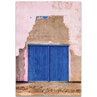 Metal Art Studio Blue Door 22-inch x 32-Inch Metal Wall Art