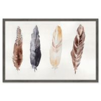 Marmont Hill Quatre Plumes 18-Inch x 12-Inch Framed Wall Art