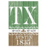 Marmont Hill Austin 1835 12-Inch x 18-Inch Wood Wall Art
