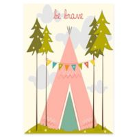 Marmont Hill Be Brave 24-Inch x 36-Inch Canvas Wall Art