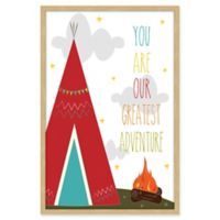 Marmont Hill Red Tee Pee Framed Wall Art