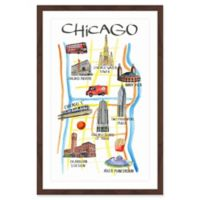 Marmont Hill Chicago Architecture Framed 12-Inch x 18-Inch Wall Art