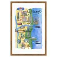 Marmont Hill The Spirit of Chicago 24-Inch x 36-Inch Framed Wall Art