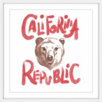 Marmont Hill California Republic Bear Head 24-Inch Square Framed Wall Art
