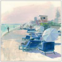 Marmont Hill Beach Lounging 40-Inch Square Floater Frame Canvas Wall Art