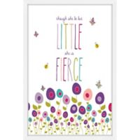 Marmont Hill Little But Fierce 24-Inch x 36-Inch Framed Wall Art
