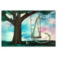 Marmont Hill Dragon Swing 24-Inch x 16-Inch Canvas Wall Art