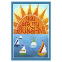 Marmont Hill Sunshine Sailboats 40-Inch x 60-Inch Canvas Wall Art