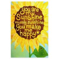 Marmont Hill Sunshine Flower II 12-Inch x 18-Inch Canvas Wall Art
