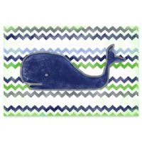 Marmont Hill Navy Whale 30-Inch x 20-Inch Canvas Wall Art