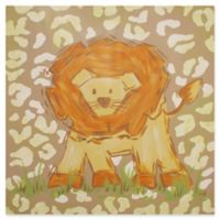 Marmont Hill Tan Lion 24-Inch Square Canvas Wall Art