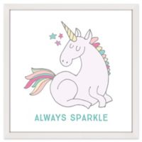 """Marmont Hill """"Always Sparkle"""" 24-Inch Square Framed Wall Art"""