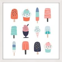 Marmont Hill Ice Cream Styles II 48-Inch Square Framed Wall Art