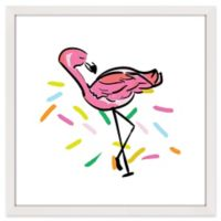 Marmont Hill Party Flamingo 40-Inch Square Framed Wall Art