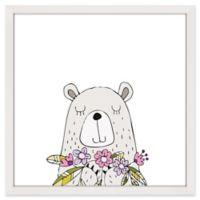 Bear 12-Inch Square Framed Wall Art