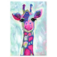 Marmont Hill Colorful Giraffe 24-Inch x 36-Inch Canvas Wall Art