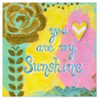 "Marmont Hill ""You Are My Sunshine"" 24-Inch Square Canvas Wall Art in Gold"