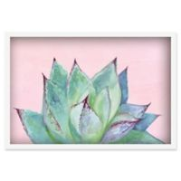 Marmont Hill Agave Profile III 16-Inch x 24-Inch Shadow Box Wall Art in White