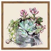 Marmont Hill Succulents II 12-Inch Square Framed Wall Art