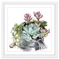 Marmont Hill Succulents 12-Inch Square Framed Wall Art