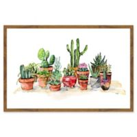 Marmont Hill Potted Plants 36-Inch x 24-Inch Framed Wall Art