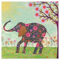 Marmont Hill Sunny Elephant 48-Inch Square Canvas Wall Art