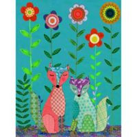Marmont Hill Two Foxes 24-Inch x 31-Inch Canvas Wall Art