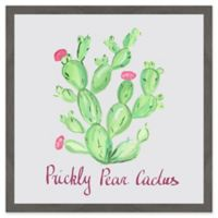 """Marmont Hill """"Prickly Pear Cactus"""" I 32-Inch Square Framed Wall Art"""