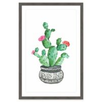 Marmont Hill Prickly Green Succulent 24-Inch x 36-Inch Framed Wall Art