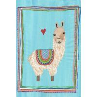 Marmont Hill Llama Heart 12-Inch x 18-Inch Canvas Wall Art