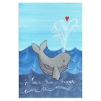 Marmont Hill Whale Love 12-Inch x 18-Inch Canvas Wall Art