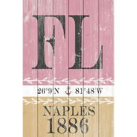 "Marmont Hill 45-Inch x 30-Inch ""Naples 1886"" Wood Wall Art"