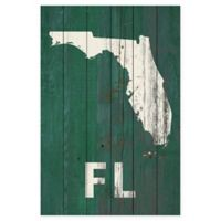"Marmont Hill 45-Inch x 30-Inch ""FL State"" Wood Wall Art"