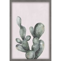 """Marmont Hill 24-Inch x 16-Inch """"Lone Cactus III"""" Canvas with Shadow Box"""