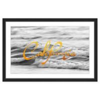 """Marmont Hill Great Expectations """"California"""" 24-Inch x 16-Inch Framed Wall Art"""