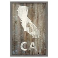 Marmont Hill California State 12-Inch x 18-Inch Canvas with Shadow Box