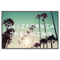 """Marmont Hill """"California Dreaming"""" 18-Inch x 12-Inch Framed Canvas Wall Art"""