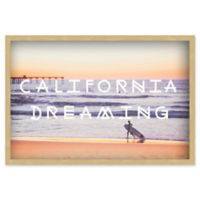 Marmont Hill Dreaming of Surfing 20-Inch x 30-Inch Shadow Box Wall Art