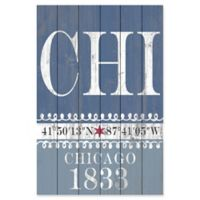 "Marmont Hill ""Chicago 1833"" 12-Inch x 18-Inch Wooden Wall Art"