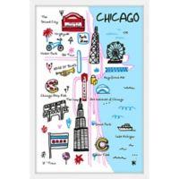 Marmont Hill Chicago Landmarks Framed Wall Art