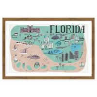Marmont Hill Florida Sights 24-Inch x 16-Inch Framed Wall Art