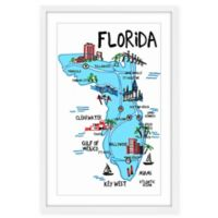 Marmont Hill Florida Iconic Sights 16-Inch x 24-Inch Framed Wall Art