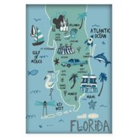 Marmont Hill Explore Florida 40-Inch x 60-Inch Canvas Wall Art with Shadow Box