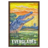 Marmont Hill Everglades Poster 30-Inch x 45-Inch Canvas Wall Art with Shadow Box