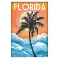 "Marmont Hill ""Florida"" 20-Inch x 30-Inch Canvas Wall Art in Orange"