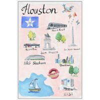 Marmont Hill Houston Icons 16-Inch x 24-Inch Framed Wall Art