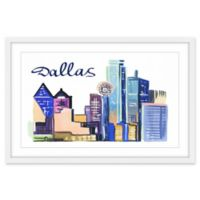"Marmont Hill ""Dallas Cityscape"" 18-Inch x 12-Inch Framed Wall Art"